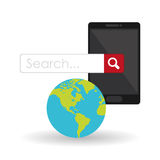 Search design. lupe icon. marketing  concept Stock Photography