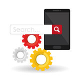 Search design. lupe icon. marketing  concept Royalty Free Stock Photos