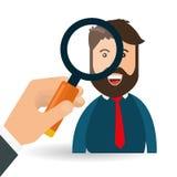 Search design. lupe icon. marketing  concept Stock Image