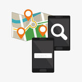 Search design. lupe icon. marketing  concept Royalty Free Stock Photography