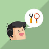 Search design. lupe icon. multimedia concept Stock Photo