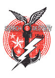 Search and destroy. Vector illustration ideal for printing on apparel clothes Stock Image