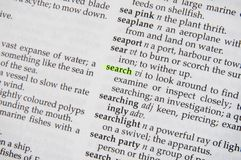 Search in dictionary Royalty Free Stock Image