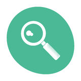 Search discovery loupe icon color. Vector illustration eps 10 Royalty Free Stock Images