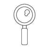 Search discovery observe loupe icon thin line Stock Photos