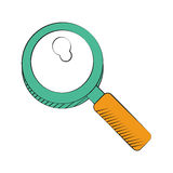 Search discovery observe loupe icon Stock Photos