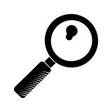 Search discovery observe loupe pictogram Stock Photography