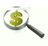 Search Dollars Financial Wealth Stock Photography