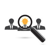 Search for an employee. Looking For Positive thinker. Looking Fo Royalty Free Stock Photos
