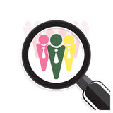 Search for an employee. Looking For Talent Royalty Free Stock Photos