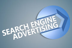 Search Engine Advertising Stock Photo
