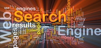 Search engine background concept glowing Royalty Free Stock Image