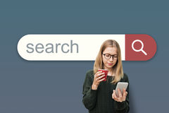 Search Engine Browser Find Looking Concept stock image