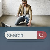 Search Engine Browser Find Looking Concept stock photo