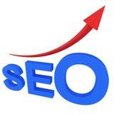 Search Engine de SEO avec la flèche Images libres de droits