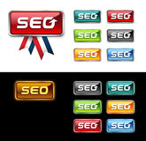 Search engine icon. SEO button. Stock Images