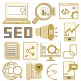 Search engine icons Stock Image