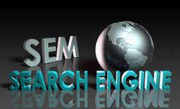 Search Engine Marketing stock photography