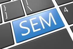 Search Engine Marketing lizenzfreie abbildung