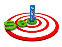 Search engine marketing target. A target for search engine marketing Royalty Free Stock Image