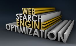 Search Engine Optimization. SEO Site Ranking in 3d Stock Photos
