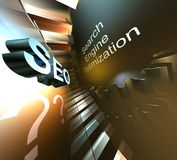 Search engine optimization. Style backgrounds search engine optimization royalty free illustration
