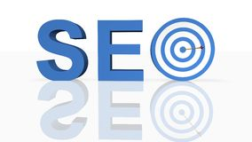 Search Engine Optimization. In 3D Royalty Free Stock Image