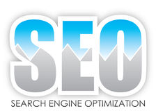 Search Engine Optimization. SEO - Search Engine Optimization Button Royalty Free Stock Photography