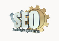 Search engine optimization. 3D rendering of Search engine optimization Stock Image