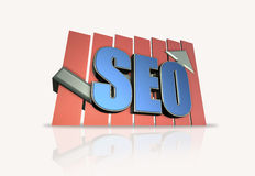 Search engine optimization. 3D illustration of search engine optimization Stock Image