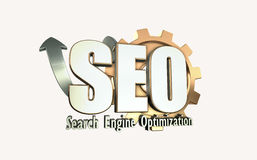 Search engine optimization. 3D illustration of search engine optimization Stock Photos