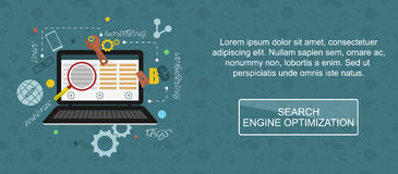 Search engine optimization banner. SEO. Royalty Free Stock Photography