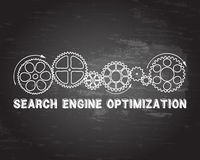 Search Engine Optimization Blackboard Stock Photos