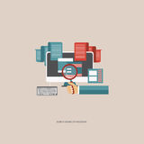 Search engine optimization. Concept. Flat  illustration Stock Photos