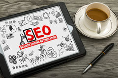 Search engine optimization concept Royalty Free Stock Photos