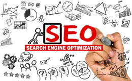 Search engine optimization concept Royalty Free Stock Photography