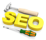 Search engine optimization. 3d generated picture of a seo concept vector illustration