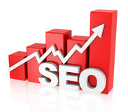 Search engine optimization. 3d generated picture of a seo concept stock illustration