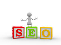 Search Engine Optimization. royalty free illustration