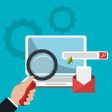 Search engine optimization design. Illustration eps10 graphic Royalty Free Stock Images