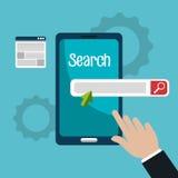 Search engine optimization design. Illustration eps10 graphic Stock Images