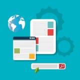 Search engine optimization design. Illustration eps10 graphic Royalty Free Stock Image