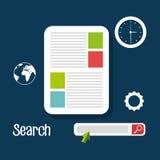 Search engine optimization design. Illustration eps10 graphic Stock Photography