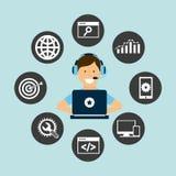 Search engine optimization design. Illustration eps10 graphic Royalty Free Stock Photos
