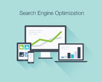 Search Engine Optimization flat icon illustration  Stock Image