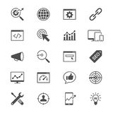 Search engine optimization flat icons Royalty Free Stock Image