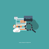 Search engine optimization. Flat  illustration Royalty Free Stock Photography