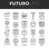 Search Engine Optimization Futuro Line Icons Set Stock Photos