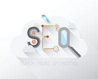 Search engine optimization graphic in a cloud Royalty Free Stock Image