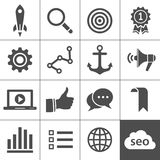 Search engine optimization icon set Stock Image